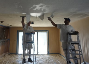 moline popcorn ceiling removal