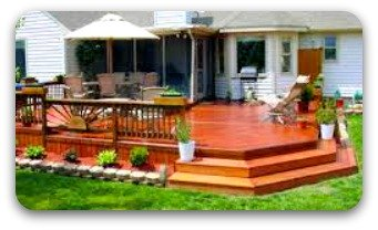 A large family focused deck in moline great for those get togethers on the weekend