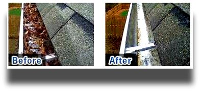 that british painters before and after gutter cleaning pictures